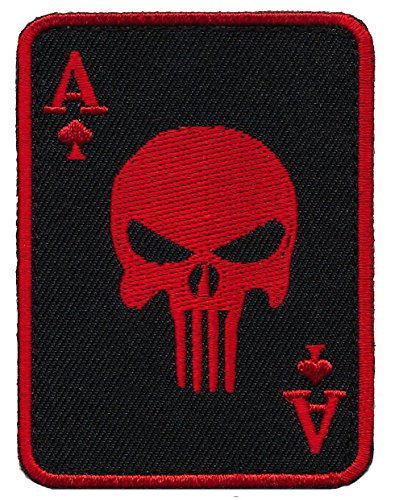Patch Squad Men's Ace of Spade Death Dead Man Punisher Morale Patch … (Kick The Bucket Costume)