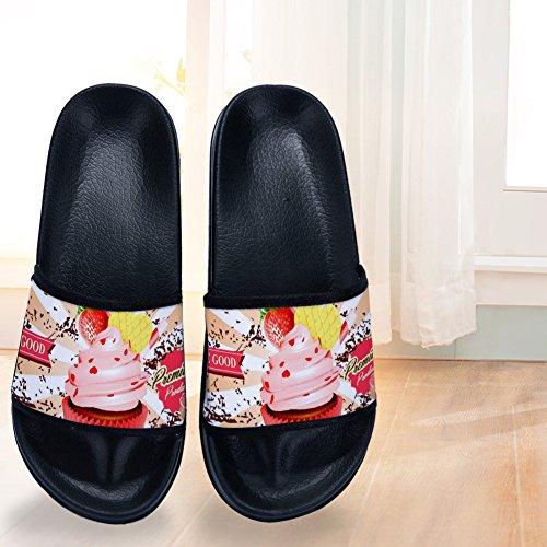 Rápido Negro Secado Zapatillas Buteri y Suaves Cupcakes Antideslizantes de para Mujer para de Cq78Z