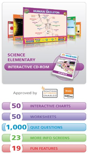 Daydream Education SC-U-S50E Science Whiteboard Interactive Chart Set Elementary