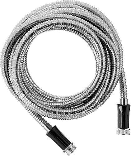 Bionic Steel 25 Foot Garden Hose 304 Stainless Steel Metal Hose – Super Tough & Flexible Water Hose, Lightweight, Crush Resistant Aluminum Fittings, Kink & Tangle Free, Rust Proof, Easy to Use & Store