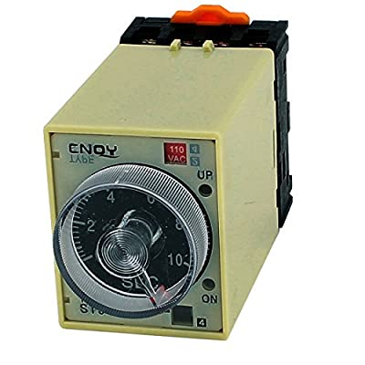 uxcell AC 110V ST3PA-B DPDT 8 Terminals 0-10 Seconds Delay Timer Time Relay