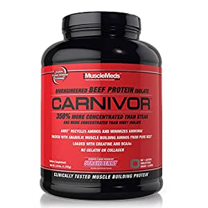 MuscleMeds Carnivor Beef Protein Isolate Powder, Strawberry, 56 Servings