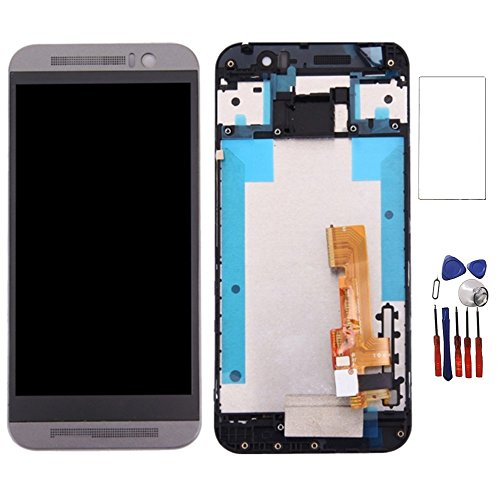 New LCD Display Touch Digitizer Screen Replacement Assembly with Frame for HTC One M9 M9U M9W (Grey)