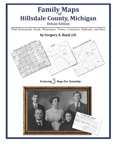 Family Maps of Hillsdale County, - Hillsdale Map