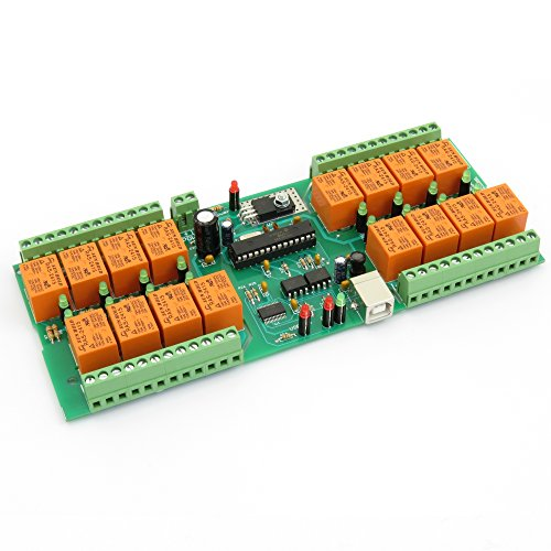 USB 16 Channel Relay Module,Board for Home Automation - 24V (Board Relay Serial)