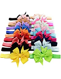 "Boutique Hair Bows Toddler Girl Baby Kid Grosgrain Ribbon Headband (3.1"", 20Pcs(1))"