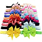 iEFiEL Baby Girls Hairband Head Wear Grosgrain Ribbon Hair Bows Accessories (...