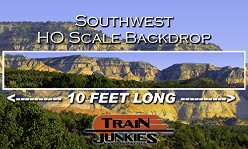 Layouts Car Ho Slot - Train Junkies Southwest - Railroad Backdrop HO OO Scale