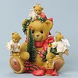 Cherished Teddies Bear SItting w/Holiday Decor
