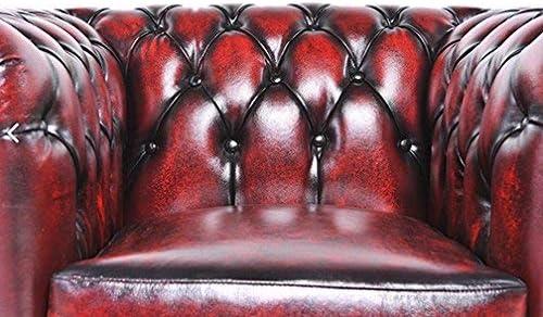 The Chesterfield Brand-Poltrona Chester Brighton Rosso Antico-Pelle vera-Fatto a mano