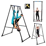 KT Indoor Outdoor Yoga Trapeze Stand Frame Model KT1.15201. Foldable, Portable, Height Adjustable Trapeze Yoga Swing Stand Frame. Stable and Durable Flying Yoga Frame Stand for Aerial Yoga