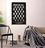 TUBİBU Unique Wall Game Chess Set, Extraordinary Gift, Wall Decor, Wall Art, Wall Decor