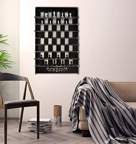 (TUBİBU Unique Wall Game Chess Set, Extraordinary Gift, Wall Decor, Wall Art, Wall Decor)