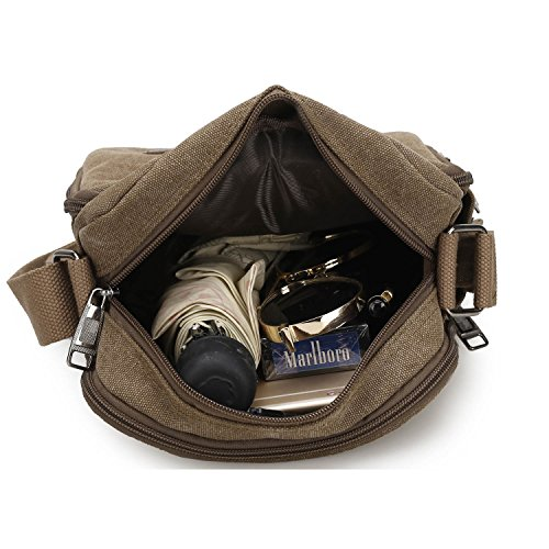 Side Gym Sports Mecooler Crossbody Travel For Casual Shoulder Men's Outdoor Bag Beige Pack Over Canvas Overnight Cross Messenger Body Military qraq8Zw