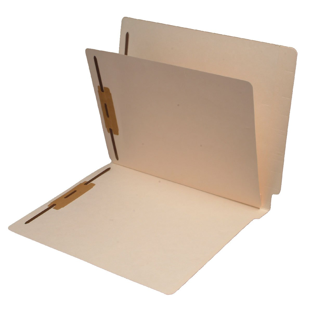 11 Pt. Manila Folders, Full Cut End Tab, Letter Size, 1 Divider Installed (Box of 40) by Ecom Folders