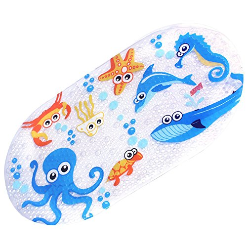 Math Tub - Mocollmax Non-Slip Baby Bath Mat Toddler Anti-Bacterial Bathtub Mat, Shower Mat with Suction Cups 27