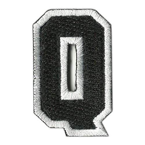 Tactical Letter Patches - Black/White - - Velcro Letter