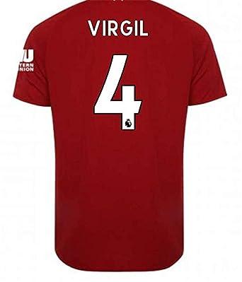 1bb4fae63 LISIMKE Soccer Team 2018 19 Liverpool Home Virgil Van Dijk 4 Soccer Mens  Replica Shorts Kid
