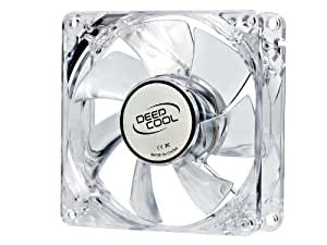 DeepCool XFAN 80L/Y Carcasa del ordenador Ventilador - Ventilador de PC (Carcasa del ordenador, Ventilador, 8 cm, 20 dB, Transparente, 0,18 A)