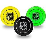 Franklin Sports Mini Foam Hockey Pucks - Indoor Knee Hockey Pucks for Kids - 3 Soft Foam Hockey Pucks - Assorted Colors