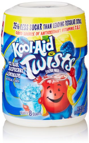 Kool-Aid Drink Mix, Sugar Sweetened Ice Blue Raspberry Lemonade Soft Drink Mix, 20 Ounce