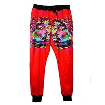 Cool joggers Tupac 2Pac tie-dye sport sweatpants for men/women hip hop trousers (S)