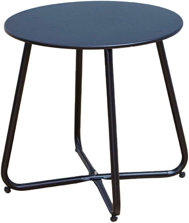 100% Origineel Side table-Q QFF woonkamertafel, slaapkamer ijzeren kunst multifunctionele kleur nachtkastje balkon sofa bijzettafel - 45 x 45 cm Zwart 56GBFX9