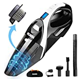 WELIKERA Cordless 12V 100W Handheld Vacuum with Stainless Steel Filter(Black)