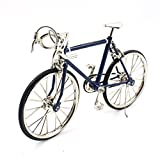 T.Y.S Racing Bike Model Alloy Simulated Road Bicycle Model Decoration Gift,Dark Blue
