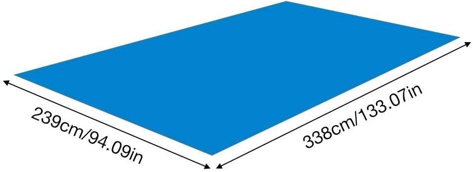 Tapis de Piscine 338 239CM Tapis de Piscine rectangulaire Tapis de Sol de Piscine Tapis de Sol en Polyester Pliable pour Piscine de Sol Protecte