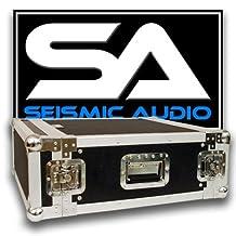 Seismic Audio-4 Space Rack Case for Amp Effect Mixer PA/DJ Pro Audio