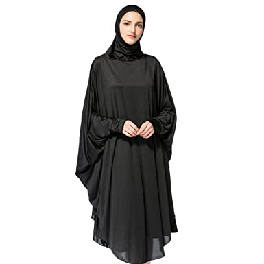 67b9a006c5a Hougood Hijab Scarf Long Headscarf Full Length Prayer Dress Women Muslim  Solid Scarfs Chadors Arabia Islamic Muslim Clothes Long Hijab Shawls Body  Cover  ...