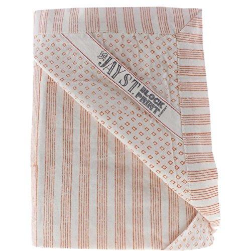 West Elm Cotton - Jay St. Block Company West Elm Birra Cotton Striped Pillow Sham Orange Euro