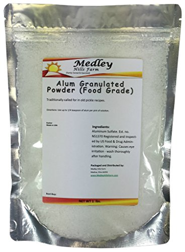 Medley Hills Farm Alum Granulated Powder (Food Grade) 1 lb (Medley Farm)