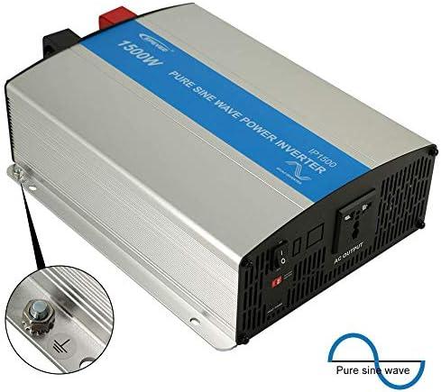 EPEVER 1500W Pure Sine Wave Inverter – 12Volt DC Input 110VAC-120VAC Output 50HZ 60HZ Solar Inverter 1500W