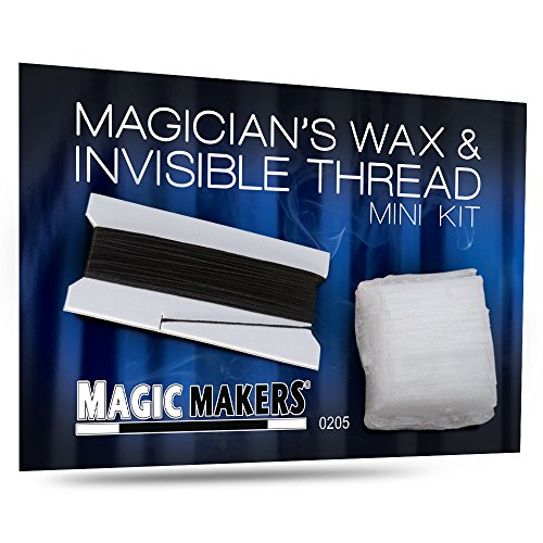 Magic Makers Magician's Wax and Invisible Thread - Easy to Use and Easy to Remove - Ideal for Anchoring in Levitation Tricks, Marking Cards and Vanishes