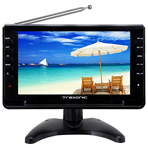 Trexonic Portable Ultra Lightweight Rechargeable Widescreen 9' LED TV...