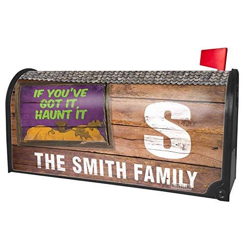 NEONBLOND Custom Mailbox Cover If You've Got It, Haunt It Halloween Pumpkin Top -