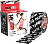 Rocktape Kinesiology Tape Athletes, Water Resistant, Reduce Pain & Injury Recovery, 5cm x 5m, Uncut, Black Logo