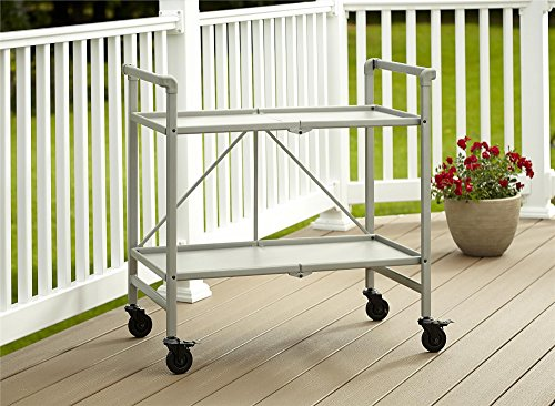 Cosco Indoor/Outdoor Serving Cart, Folding, Silver from Cosco