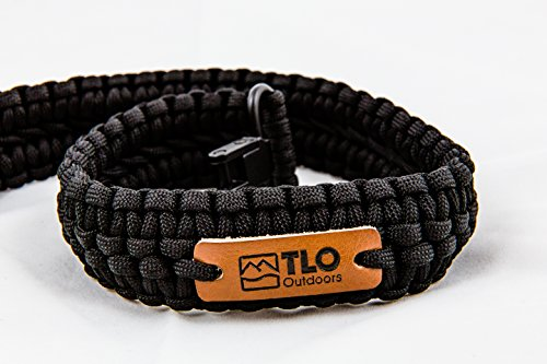 TLO Outdoors Paracord Gun Sling - Adjustable 2-Point Paracord Sling Rifle, Shotgun Crossbows (550 Rated Nylon, Kernmantle Paracord, Extra Wide, Black)