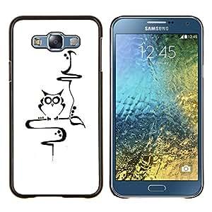 EJOOY---Cubierta de la caja de protección para la piel dura ** Samsung Galaxy E7 E700 ** --Profesor Escuela Inteligente minimalista