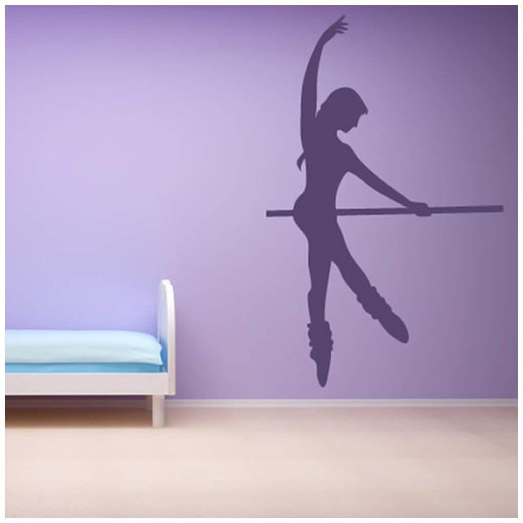 Azutura Ballerina-Tanz Wandtattoo Ballett Pole Wand Sticker Mädchen Schlafzimmer Gym Wohnkultur verfügbar in 5 Größen und 25 Farben X-Groß Schwarz