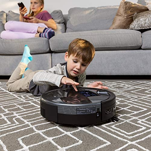 bObsweep PetHair Plus Robotic Vacuum Cleaner and Mop, Charcoal ...