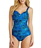 Miraclesuit Tangier Bella Swimsuit, 12, Blue