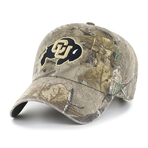 NCAA Colorado Buffaloes Realtree OTS Challenger Adjustable Hat, Realtree Camo, One Size