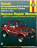 H90010 Suzuki Samurai Sidekick X-90 Vitara Chevrolet Geo Tracker 1986-2001 Haynes Repair Manual
