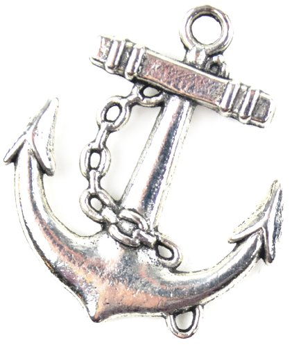 Midwest Design Imports Nautical Anchor Paracord Charm, Silver from Midwest Design Imports, Inc.