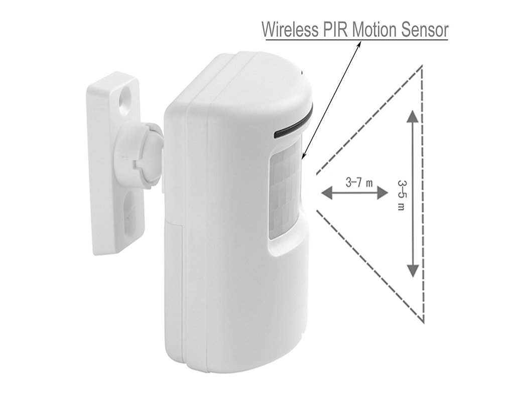 Motion Sensor Door Chime For Business Waterproof Diagram The Additional Electronics An External Pir Doorbell Kit Wireless Driveway Alert Infrared With 1 Plug In Receiver And