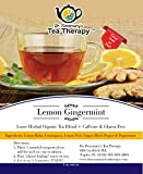 Lemon GingerMint Tea- Great Iced or Hot! Light in Color -Cool Refreshing Lemony Zesty Flavor! By Dr. Rosemary's Tea Therapy Review